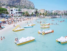 Mondello Paddle Boats. holy shit! i was on one of these at this SAME beach like a month ago!!! @Gemma Docherty Docherty Seidita @Ellen Page Page Lenz #mondello #sicilia #sicily
