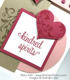 Stampin Up First Sight Valentine Day Card By Mary Fish
