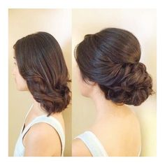 Shoulder length up do ❤ liked on Polyvore featuring hair