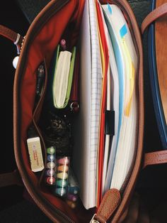 "anne-alytically: ""009/100 days of productivity ✨ Oct.18.16 The contents of the purse today as I tackle my Thursday classes. I actually usually bring in a backpack but today I decided to not bring a..."