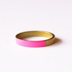 Brass Round Ring Pink now featured on Fab.