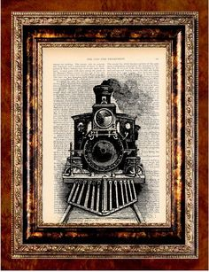 Hey, I found this really awesome Etsy listing at http://www.etsy.com/listing/76563687/train-art-print-antique-1800s-book-page