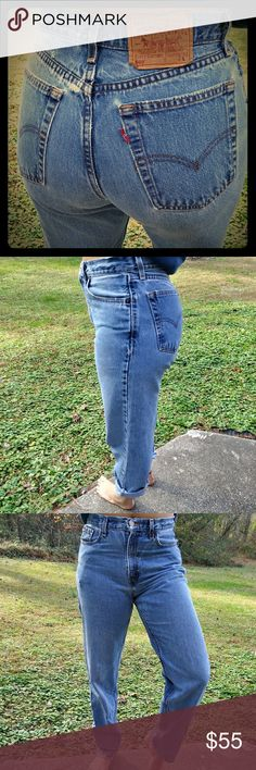 Vintage 560 Levis Nicely distressed (see picture) High waisted Levi's Jeans Straight Leg