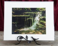 "Ready to Frame 8"" x 10"" Landscape Photograph Pixley Falls 1 in a 11"" x 14"" Mat Board and Backer *Stand is not included"