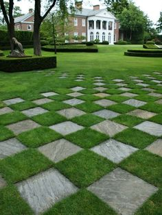 Checkers, anyone? Such a fabulous project if you have the space. Beautiful sod is the key to pulling this idea together!