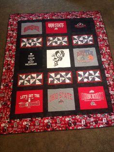 Ohio State Buckeyes T-shirt Quilt