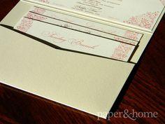 Indian Wedding Invitations Las Vegas: Indian Pocket Wedding Invitation Enclosure Cards on Shimmer Paper.