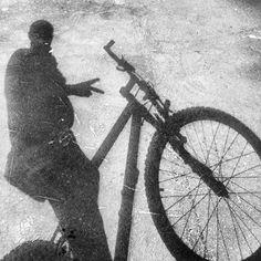 back on track! ) me & my bike in shadow
