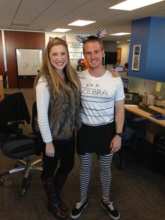 Wondering how to dress up for Halloween at the office? Why not dress as a zebra?