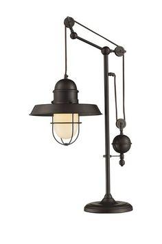 Farmhouse Oiled Bronze Table Lamp by Elk Lighting on @HauteLook