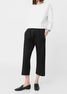 Virgin wool trousers - Trousers for Woman | MANGO Czech Republic