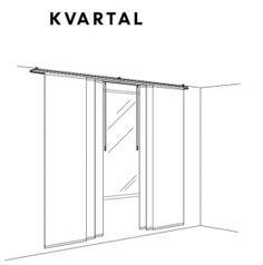 KVARTAL Track Rail System..Hang A Shower Curtain, Create A Room Divide,