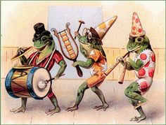 A vintage frog illustration...