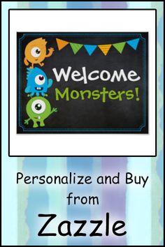 Monster Birthday Invitations, Party Invitations, Monsters Inc, Little Monsters, Little Monster Birthday, Custom Posters, 4th Birthday, Welcome, Custom Framing