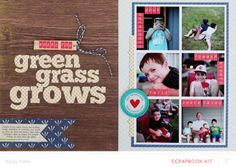 Where The Green Grass Grows * Main Kit Only* 2 page layout by Kelly Noel at @Studio_Calico