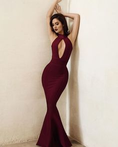 Sexy Hot Prom Dress Mermaid Prom Dresses Burgundy Evening Dress High Neck Long Formal Dress sold by cutebridal. Shop more products from cutebridal on Storenvy, the home of independent small businesses all over the world. Prom Dresses Long Pink, Elegant Prom Dresses, A Line Prom Dresses, Mermaid Evening Dresses, Sexy Dresses, Evening Gowns, Party Dresses, Prom Gowns, Evening Party