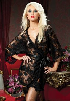 c47278658ba Paisley Pleasure Paisley Lace Robe Seven Til Midnight Sexy Robes