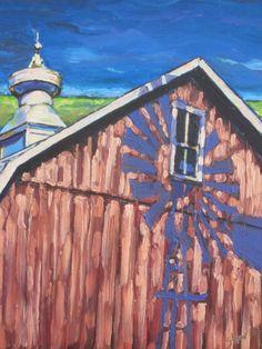 Minnesota Barn by Nancy Stark