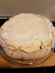 W mojej kuchni: Pavlova z bitą śmietaną i frużeliną jagodową wg Aleex (TM5) Pavlova, Camembert Cheese, Food And Drink, Sweet, Recipes, Diet, Thermomix, Cooking, Candy
