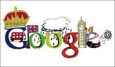 How very London. Google Doodles, Google Images, Art Google, Youtube Instagram, Toronto, Cake Logo, Head And Heart, Cute Doodles, Humor Grafico