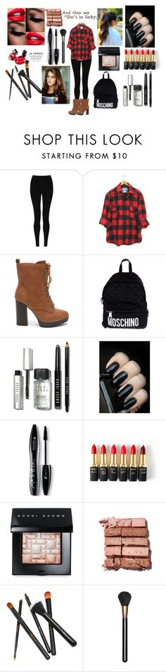 """""""Outfit For School"""" by sukh-deol ❤ liked on Polyvore featuring M&S Collection, Moschino, Bobbi Brown Cosmetics, Lancôme, L'Oréal Paris and MAC Cosmetics"""
