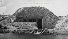 American Civil War Pictures & Photos | Morris Island, South Carolina. Bombproof for telegraph operator in trenches.
