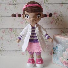 Doc McStuffins crochet Crochet doll handmade toys doctor doll