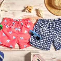 French Bulldog print Kids swim shorts with 10% of profits to named charities