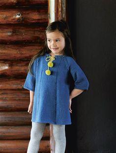 1512: Design 18 Kjole #strikk #knit Shirt Dress, T Shirt, Barn, Sweaters, How To Make, Kids, Inspiration, Dresses, Fashion