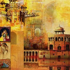 Mughal Art by Catf Indian Art Paintings, Mosques, Champs, Quilling, Watercolour, Islamic, Digital Prints, Pop Art, Art Ideas