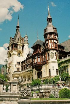 Peleș Castle is a Neo-Renaissance castle in the Carpathian Mountains, near Sinaia, in Prahova County, Romania, on an existing medieval route linking Transylvania and Wallachia, built between 1873 and 1914.
