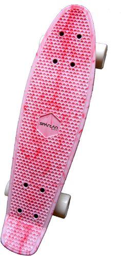 Skateboardy : Skateboard Spartan Plastic Purple/White