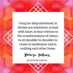 Do you long for this too? Join the upcoming #sistersoulmedicine Sanctuary on Feb 5 @soulspacebrisbane  #gutsygirlart #brisbane #goddess #intentioncircle #sisterhood #sisterhoodevent #2016 #soulspacebrisbane #womenscircle