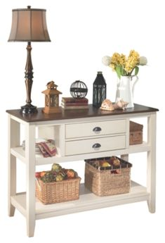Whitesburg Dining Room Server by Ashley HomeStore, Brown & White