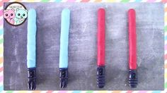 Star Wars Treats - edible Lightsaber How to. These are just too cute