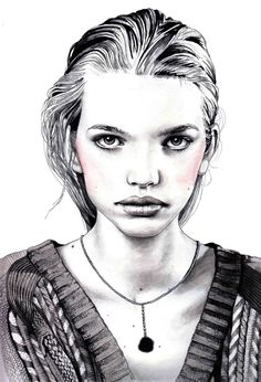 .Fashion illustrator Hannah Muller
