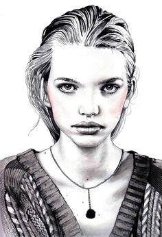 .Fashion illustrator Hannah Muller
