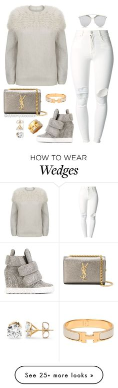 """""""Ice Skating"""" by dnicoleg on Polyvore featuring Brunello Cucinelli, (+) PEOPLE, Giuseppe Zanotti, Hermès, Yves Saint Laurent and Christian Dior"""