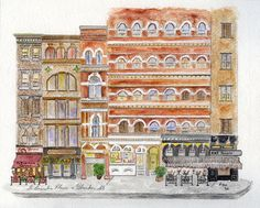 LaGuardia Place & Bleeker Street by Harlem Sketches