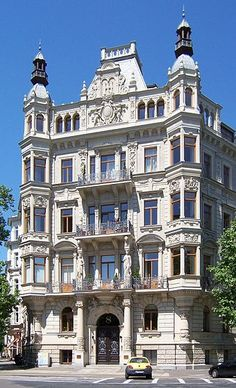 Späthistoristisches Wohnhaus in Leipzig, 1892 von Arwed Roßbach erbaut