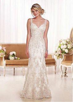 New Mermaid White ivory Lace Wedding Dress Bridal Gown Custom:6 8 10 12 14 16++