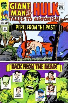 Tales to Astonish 68 Giant-Man Hulk silver age marvel comics group Hulk Marvel, Avengers, Marvel Comics Superheroes, Hulk Comic, Bd Comics, Marvel Comic Books, Comic Books Art, Comic Art, Spiderman