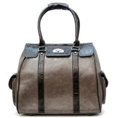 d24484d60d89 Ladies Grey Black Leather Like Rolling Computer Laptop Bag Brief Case (fits  15