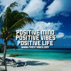A positive mind will lead to a positive life #positive#mindset#beach#summer#quotes#love#palmtrees