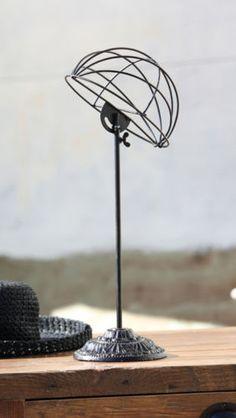 Hat Display Stand Rack Vintage Style Antique Black Metal Decor Industrial db7fdb3cd9c6