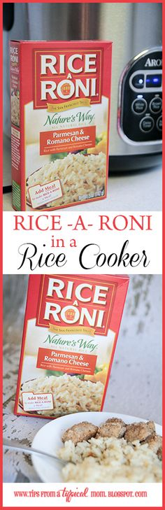 Because I'm a busy mom, I don't have time to stand over the stove every night babysitting dinner. I do sometimes, when I want something extra yummy, but I would much rather use my crock pot or rice cooker to help me out a little. Rice-a-Roni is one of tho Rice Cooker Pasta, Aroma Rice Cooker, Rice Cooker Steamer, Rice Cooker Recipes, Pressure Cooker Recipes, Rice Recipes, Cooking Recipes, Budget Recipes, Water Recipes