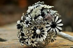 Reuse old broaches and other jewellery for an eyecatching alternative to real