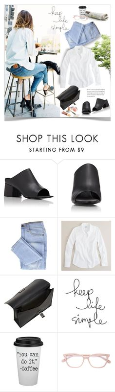 """""""Untitled #249"""" by craftsperson ❤ liked on Polyvore featuring Madewell, 3.1 Phillip Lim, J.Crew, Proenza Schouler, Jane Iredale and distresseddenim"""