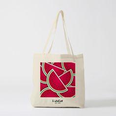 Tote bag Pastèque, sac en toile, sac coton, sac à langer, sac à main, sac fourre-tout, sac de cours, shopping bag, gift for worker
