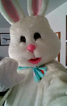 Me as the Easter Bunny at work for the boys. Had a great time and so did they